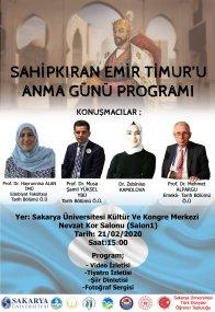 Sahip Kıran Emir Timur'u Anma Günü Programı